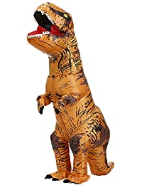 Adults T-Rex Inflatable Costume Fancy Dinosaur Suit Blow up Stegosaurus Jumpsuit Halloween Cosplay Costume for Kids
