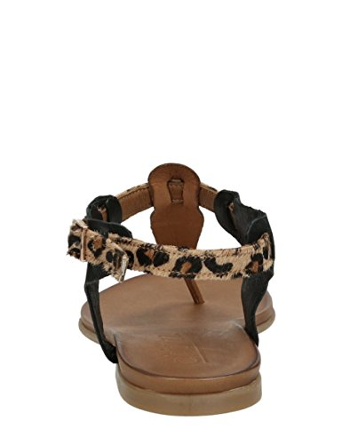 Choizz Exclusive - Sandalias de vestir de Piel para mujer Marrón * target_attribute_value COCONUT LEATHER, LEOPARD, BLACK