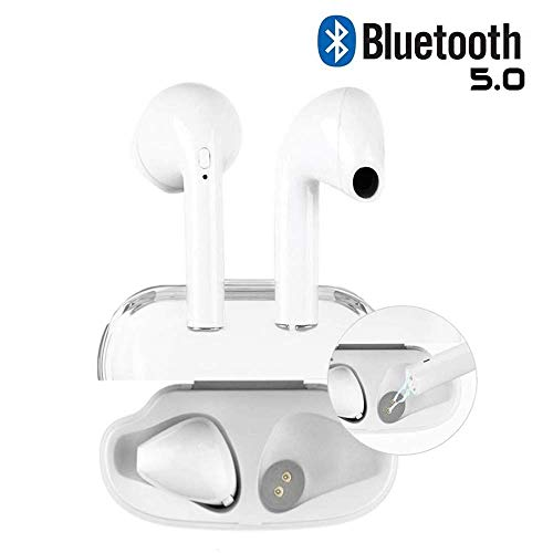 2019 True Wireless Stereo Earbuds Bluetooth Headset in-Ear Earbuds Sports Headset,Bluetooth 5.0 Auto Pairing with Charging Case for Apple Airpods Android/iPhone
