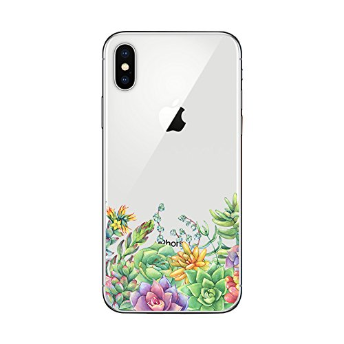 buy online 82d4f 82caf iPhone X Case/iPhone Xs Case,Blingy's New Floral Style Transparent Clear  Protective Soft TPU Rubber Case Compatible for iPhone X and iPhone Xs ...