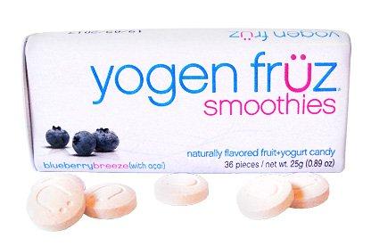 Yogen Fruz Yogurt Smoothies Blueberry Breeze Candy Box 36pc (8-pack)