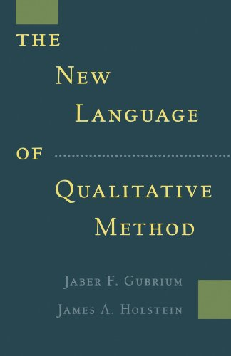 The New Language of Qualitative Method by Oxford University Press