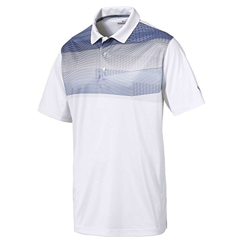 Puma Golf Men's 2018 PWR Cool Refraction Polo, X-Large, Sodalite Blue