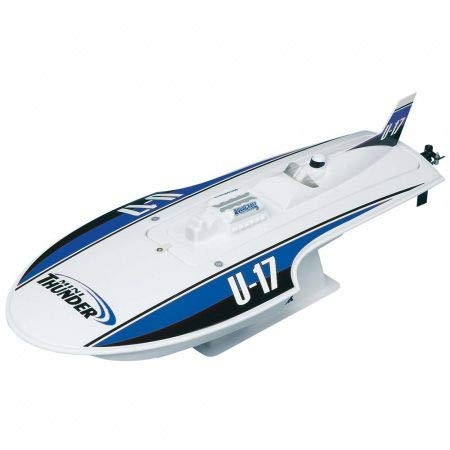 Aquacraft Models RTR Remote Control RC Boat: Mini Thunder High Speed Electric Hydroplane with 2.4GHz Radio, Servo, 2 in 1 Receiver / ESC, Motor, 7.2V 1100mAh NiMH Battery, and Charger (Blue)