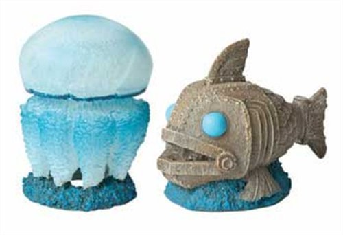 Hydor H2Show Atlantis - Jellyfish and Fish Decoration Combo Pack ()