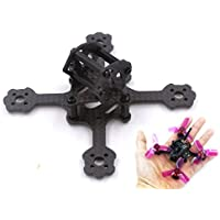 Usmile X2 TK 80mm Micro Brushless Carbon Fiber Quadcopter Quad Drone Frame for Indoor Outdoor FPV racing Support for 1104 1106 motor 2030 1930 props 2s 300mah battery