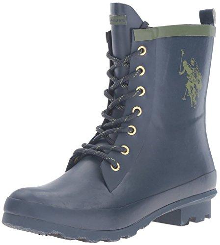 (U.S. Polo Assn..(Women's Women's Jacky Rain Boot Navy/Olive 8 M US)