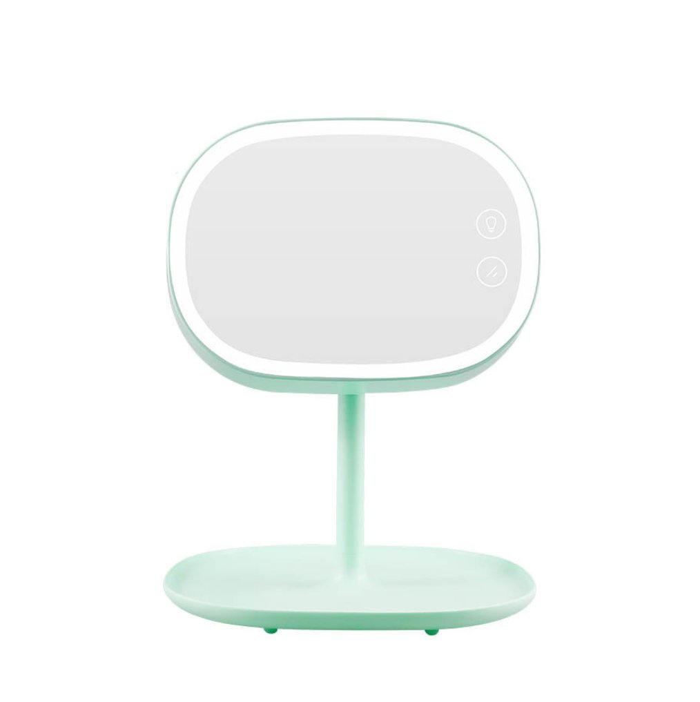 HAGDS Korean rechargeable mirror table lamp light dressing mirror lamp Bedside storage lamp Gift lightsNew Smart Sense Light (Color : Green)