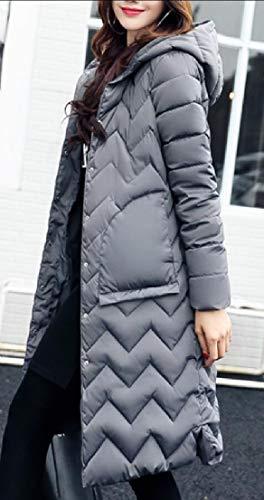 Packable Down Hooded Jacket Winter Lightweight Gery Coat Women's Long EKU BaxARq7