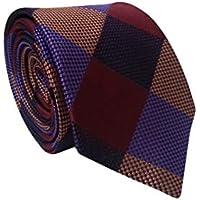 Gravata Slim Trabalhada Xadrez Importada Quadriculada