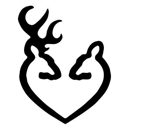 browning window decal deer heart - 8