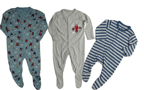 Baby Clothes Boys 3-6 Month Sleepsuits