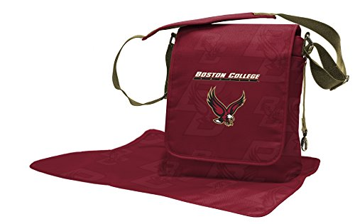 Lil Fan NCAA College Collection Diaper Messenger Bag, Boston NCAA College (Messenger Bag Boston)
