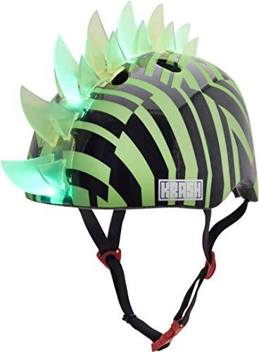 Krash! Dazzle Green LED Youth Mohawk Helmet ()
