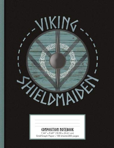 Viking Shieldmaiden Composition Notebook Grid/Graph Paper 7.44