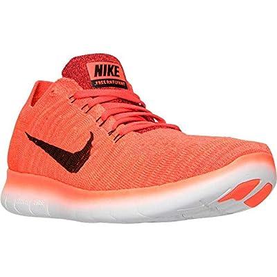 Nike Mens Free RN Flyknit, BRIGHT CRIMSON/BLACK-UNVRSTY RED, 12.5 M US