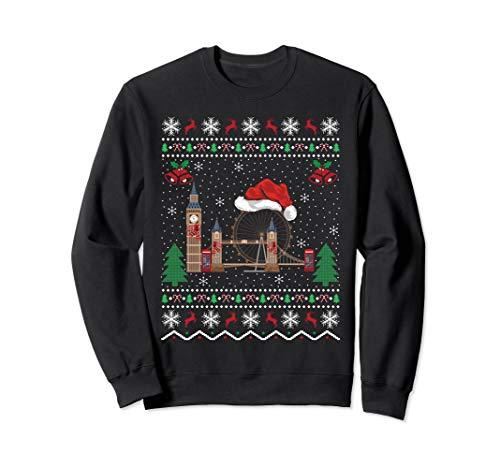 London Bridge Lover Xmas Gift Ugly London Bridge Christmas Sweatshirt (Day Jumper Christmas London)