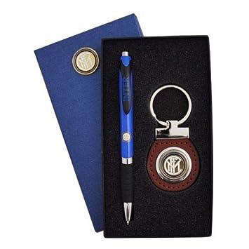 Inter - Set de bolígrafo y Llavero con Logo y Caja F.C ...