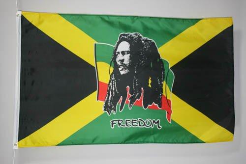 BOB MARLEY FLAG 3' x 5' - RASTA JAMAICA FLAGS 90 x 150 cm - BANNER 3x5 ft - AZ FLAG - Bob Marley Flags