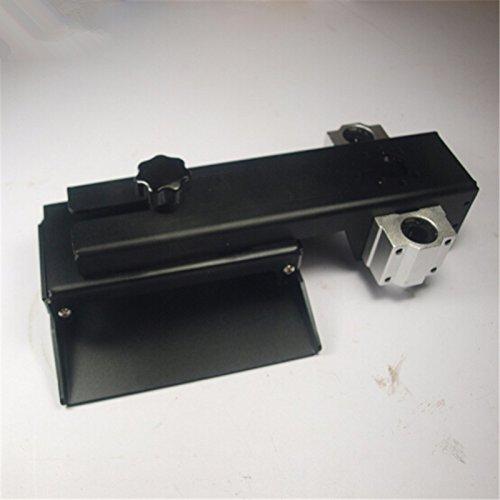 HEASEN Z axis Build Plate for DLP SLA 3D Printer Parts DIY Form Z axis Aluminum Build Platform kit Black Anodized