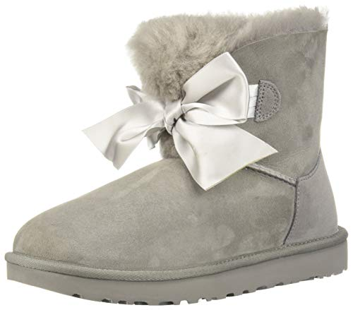 UGG Women's W GITA Bow Mini Fashion Boot, seal, 8 M US (Light Grey Ugg Boots)