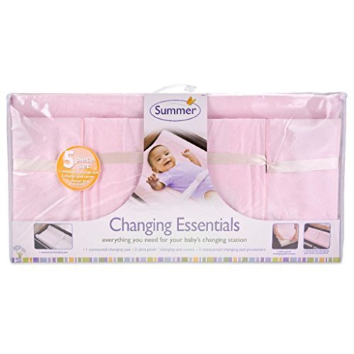 Summer Infant 5 Piece Changing Essentials Set - Pink