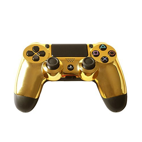Controller Front Shell for PS4 Controller – Case for the PS4 Controller Dualshock 4 Front Shell Replacement – Custom Cool PS4 Controller Shell Case Cover PS4 Controller Shells – Chrome Golden For Sale