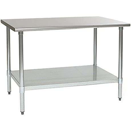 Eagle T3048SB Stainless Steel Work Table With Stainless Steel Shelf Base 30 X 48 X 30