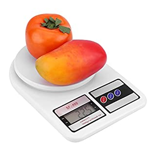 Portable Kitchen Digital Scale 0.1g to 10kg Electronic Scale Tempered Glass with Auto Off Function Food Materials Weighing Kitchen Tool
