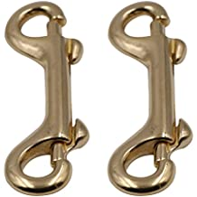 UKCOCO 2 Pack Scuba Diving Double Ended Brass Trigger Clips Snap Hook for Bag Key Keychain