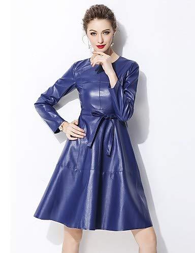 In Da Line Unita Yfltz Tinta A Elegante Blue Stile Abito Donna qf5xIwaZ