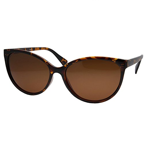 grinderPUNCH Women's Polarized Cateye Sunglasses Lentes Tortoise