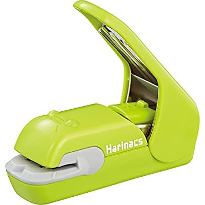 Kokuyo Harinacs Press Staple-free Stapler; With this Item, You Can Staple Pieces of Paper Without Making Any Holes on Paper. [Pink]?Japan Import? (Green)