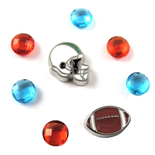 FCL Designs Football Theme #17 Floating Charm Combination for Lockets ()