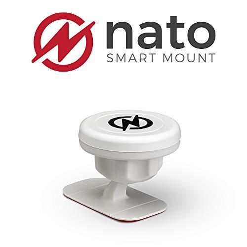Nato Smart Mount (White) Magnetic Smart Device Holder Universal Adhesive