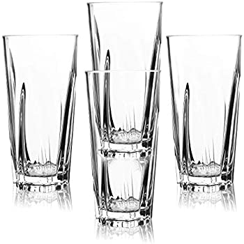 pemotech plastic drinking glasses 4 pack 16 oz restaurant quality clear acrylic. Black Bedroom Furniture Sets. Home Design Ideas