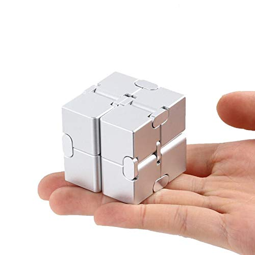 Xtozon Infinity Cube New Version, Aluminum Metal Fidget Finger Cube Toys - Office Decompression Toys Prime for Stress and Anxiety Relief/ADHD, Gifts for Adult and Kids, Cool Stuff. by Xtozon (Image #8)