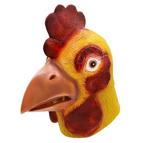 (molezu Rooster Mask, Animal Mask Head, Halloween Novelty Deluxe Mask Costume Party Cosplay Latex Cock)