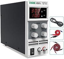 UNIROI Labornetzgerät, 0-30V 0-10A DC Regelbar Netzgerät Stabilisiert Digitalanzeige Labornetzteil Netzteil...