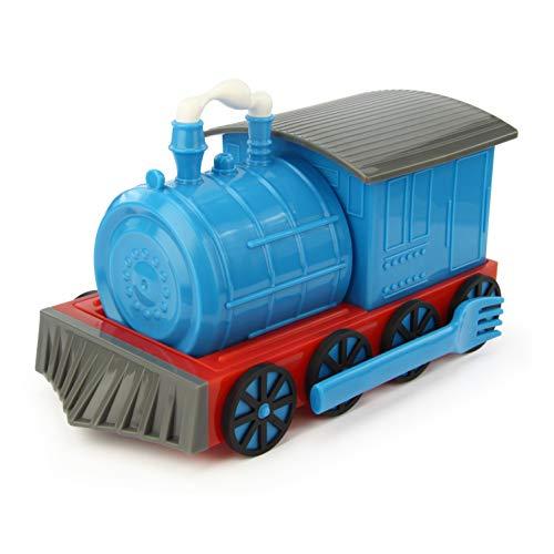KidsFunwares Chew-Chew Train Kids Dinnerware Set with Utensils, Blue (Kids Christmas Dinnerware)