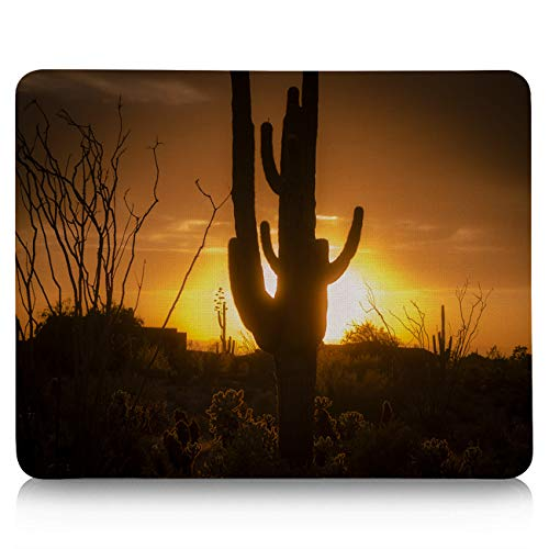 Computer Mouse Pad Custom, Cactus Sunset Western No Man's Land Mouse Mat Non-Slip Rubber Base and Jersey Surface Gaming Mouse Pad for Laptop/Desktop/Office/Home 9 x 8 inch