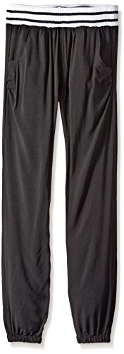 Liquid Gold Little Girls' Casual Rayon Pull On Pant, Blac...