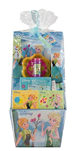 Disney Frozen Princess Candy and Toy Filled Deluxe Easter Basket (Frozen Gift Basket)