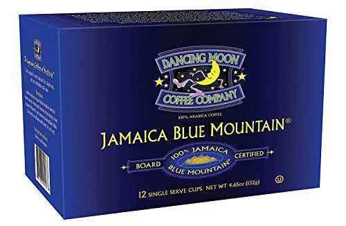 Dancing Moon 100% Jamaica Blue Mountain Coffee Single Serve Pods (12-CT K Cups)