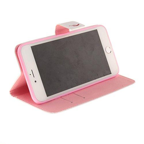 Etui iPhone7- PU Cuir Housse de Protection Portefeuille Étui avec Support et Carte Pochette pour iphone 7 plus 5.5 pouces Coque Protecteur Flip Case Cover