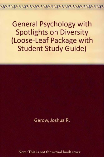 General Psychology with Spotlights on Diversity (Loose-Leaf Package with Student Study Guide)