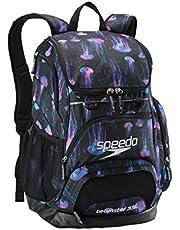 Sparen Sie auf Speedo Unisex-Erwachsene Printed Teamster Backpack 35l Rucksack schwarz/blau Einheitsgröße