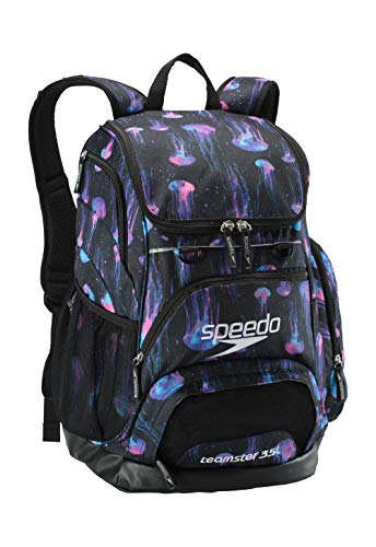 Speedo Printed Teamster Backpack 35L, Black/Blue, One Size
