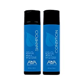 Ava Haircare – Moisture Shampoo And Conditioner – Vegan, Sulphate Free, Paraben Free, Cruelty Free (Set of 2, 8.4oz Each)