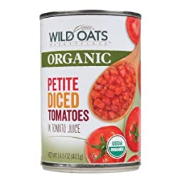 Wild Oats Organic Petite Diced Tomatoes 14.5 oz (Pack of 6)